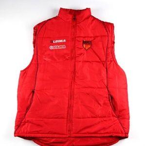 Legea Mens Basketball Full Zip Puffer Vest Red XXL